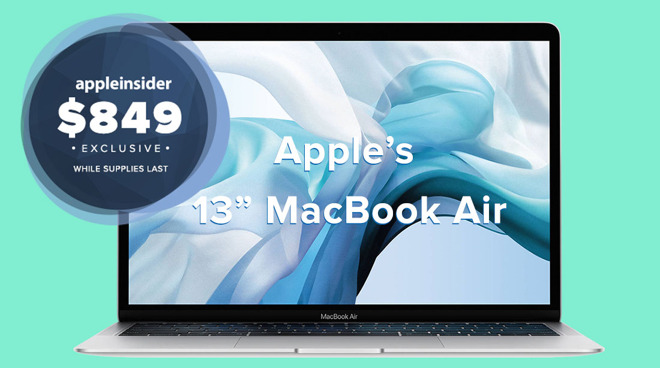 MacBook Air da 13 pollici di Apple per $ 849