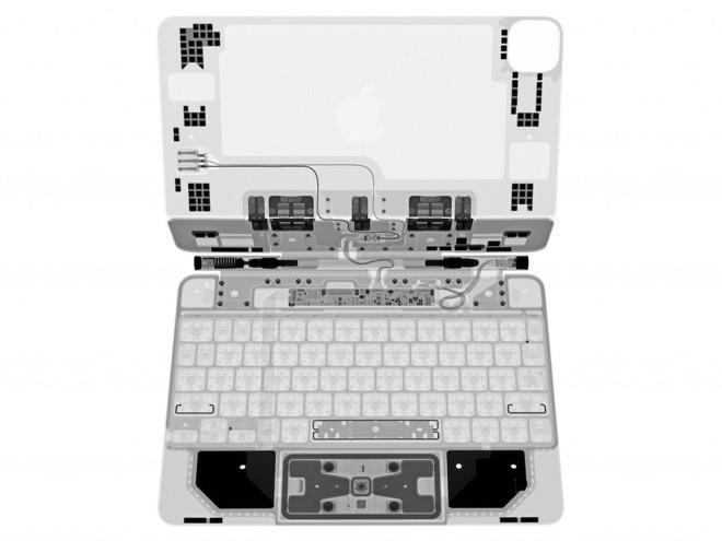 """Lo """"smontaggio di raggi X"""" di iPad Pro Magic Keyboard illustra una complessa ingegneria"""