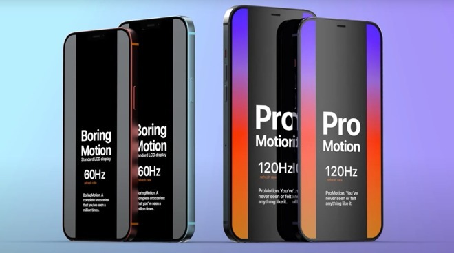 The so-called iPhone 12 could feature ProMotion on the upper-tier models. Credit: EverythingApplePro