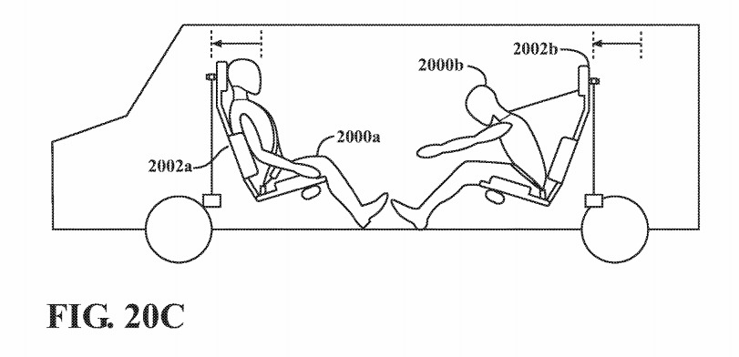 Moving car seats can affect the level of force felt during an impact, and prevent passengers from hitting each other