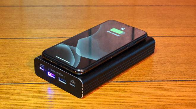 The Flash 2.0 wireless charging pad works with Apple Watch and any other wireless charging device