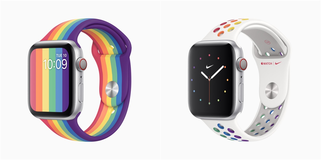 Image of article 'Apple releases pair of Pride Edition Apple Watch bands'
