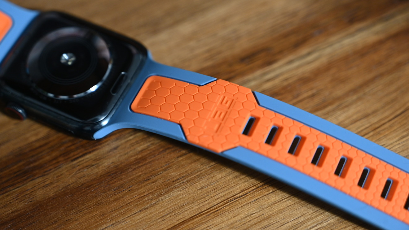 Slate and orange UAG Civilian strap