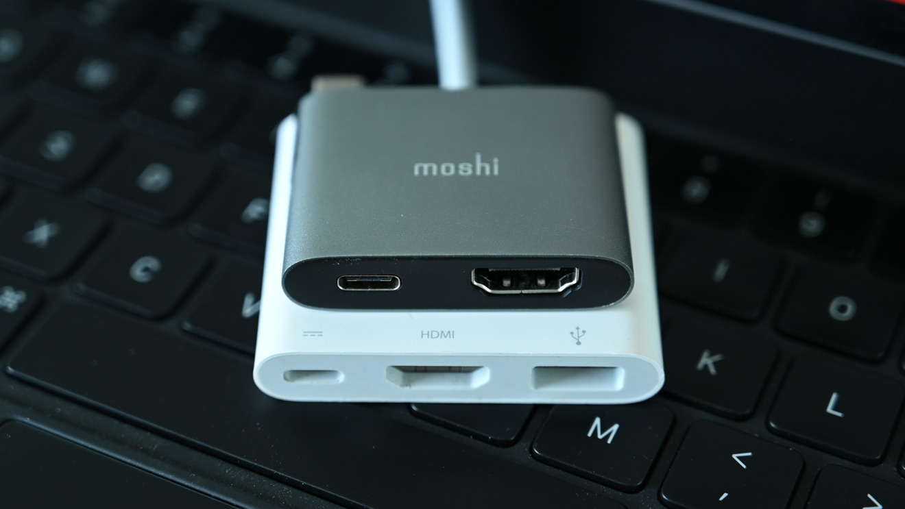Moshi USB-C to HDMI Adapter with Charging versus Apple's Digital AV adapter