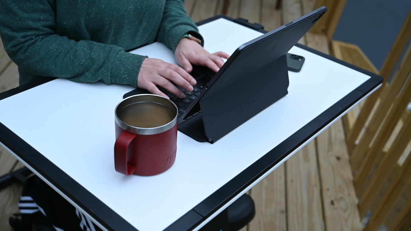 Typing on Edge Desk