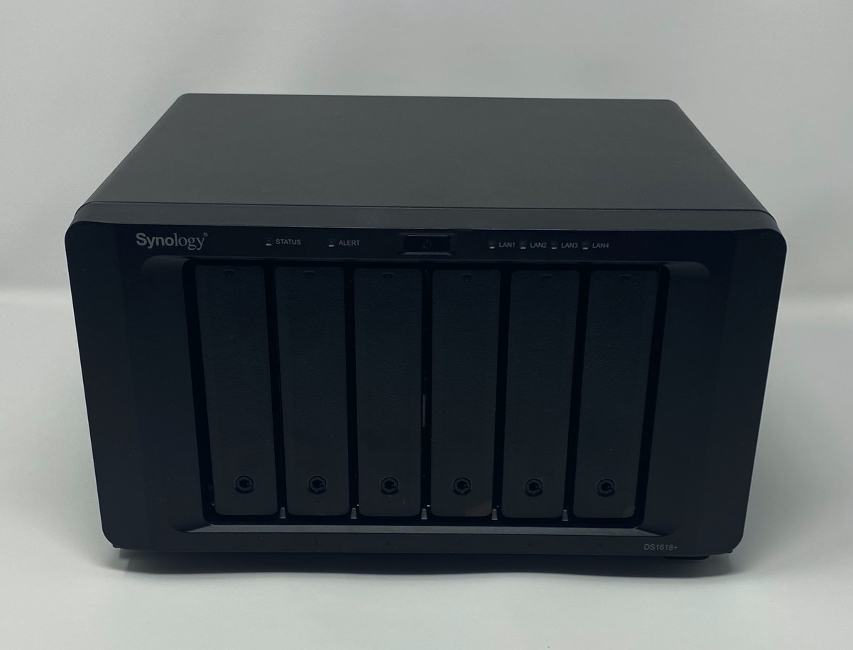 Synology DS-1618+ loaded with drives