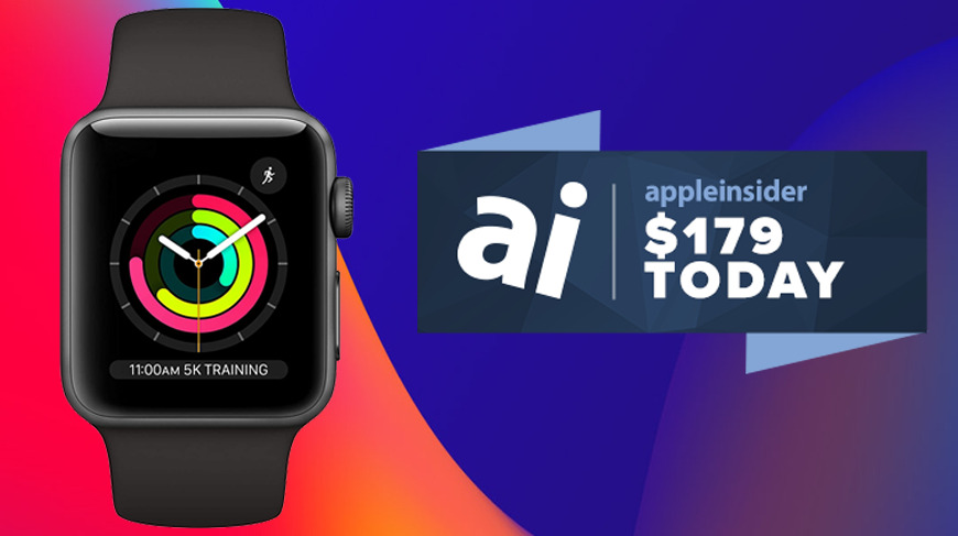 Apple Watch Series 3 with $179 badge
