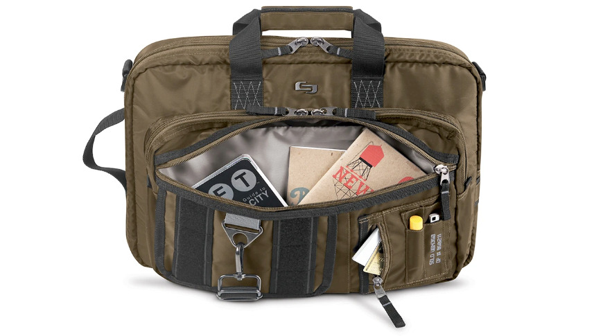 Fit plenty of gear in this convertible briefcase