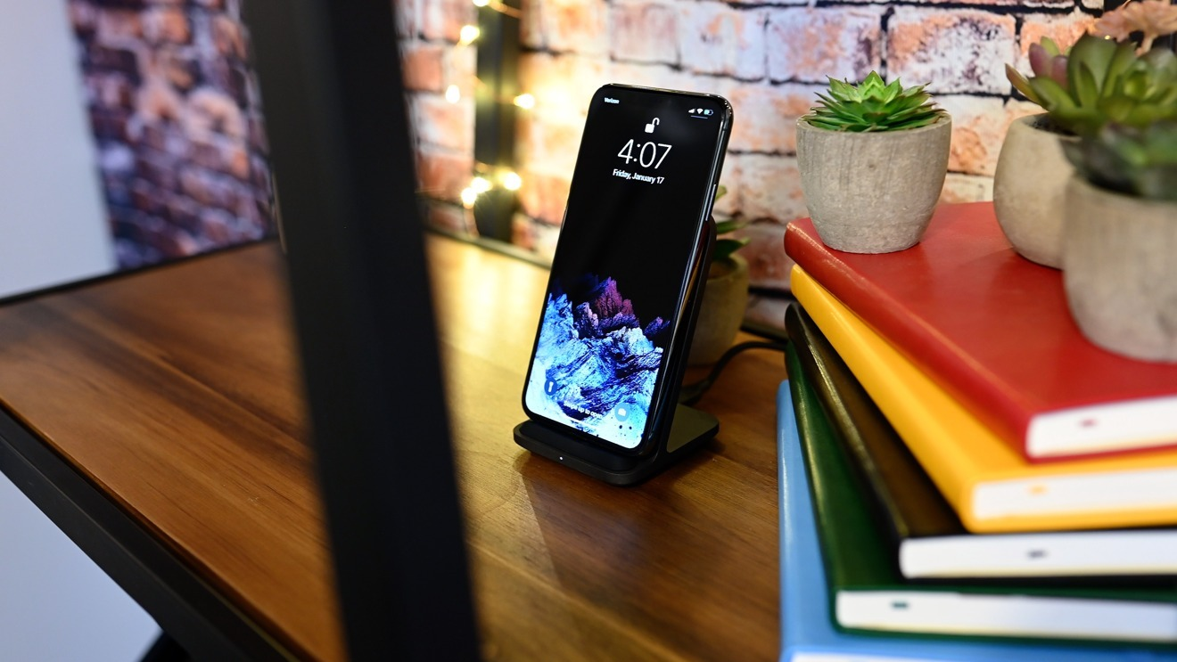 For work or home, wirelessly charging your iPhone in an upright position is very useful
