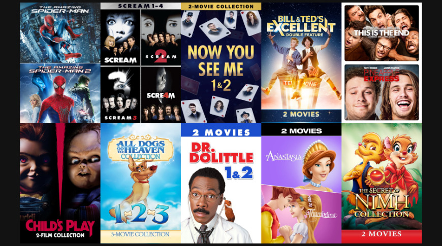 Movie Bundles under $10