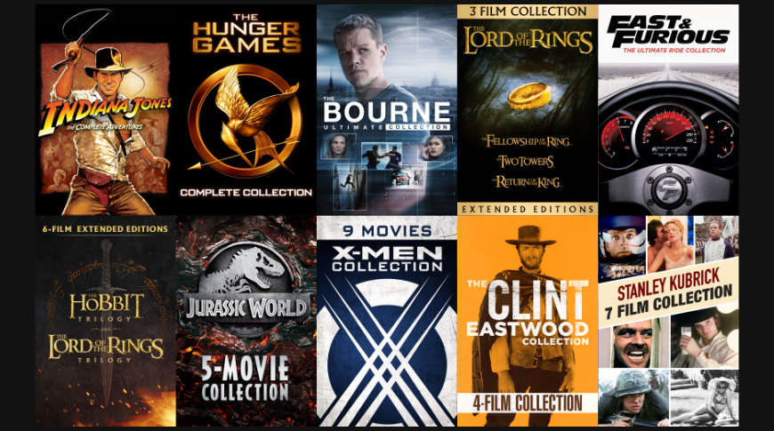 Movie Bundles Reduced Prices