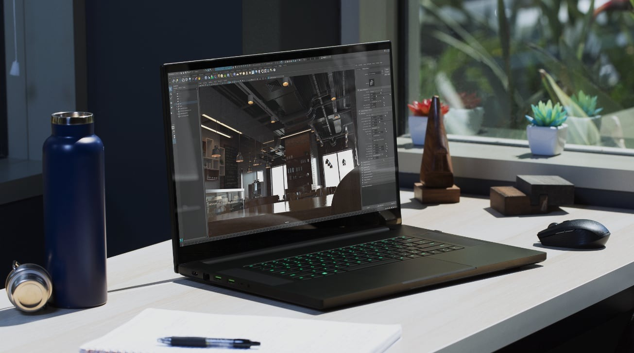 The Razer Blade Pro 17 can be used for professional purposes, not just for gaming.