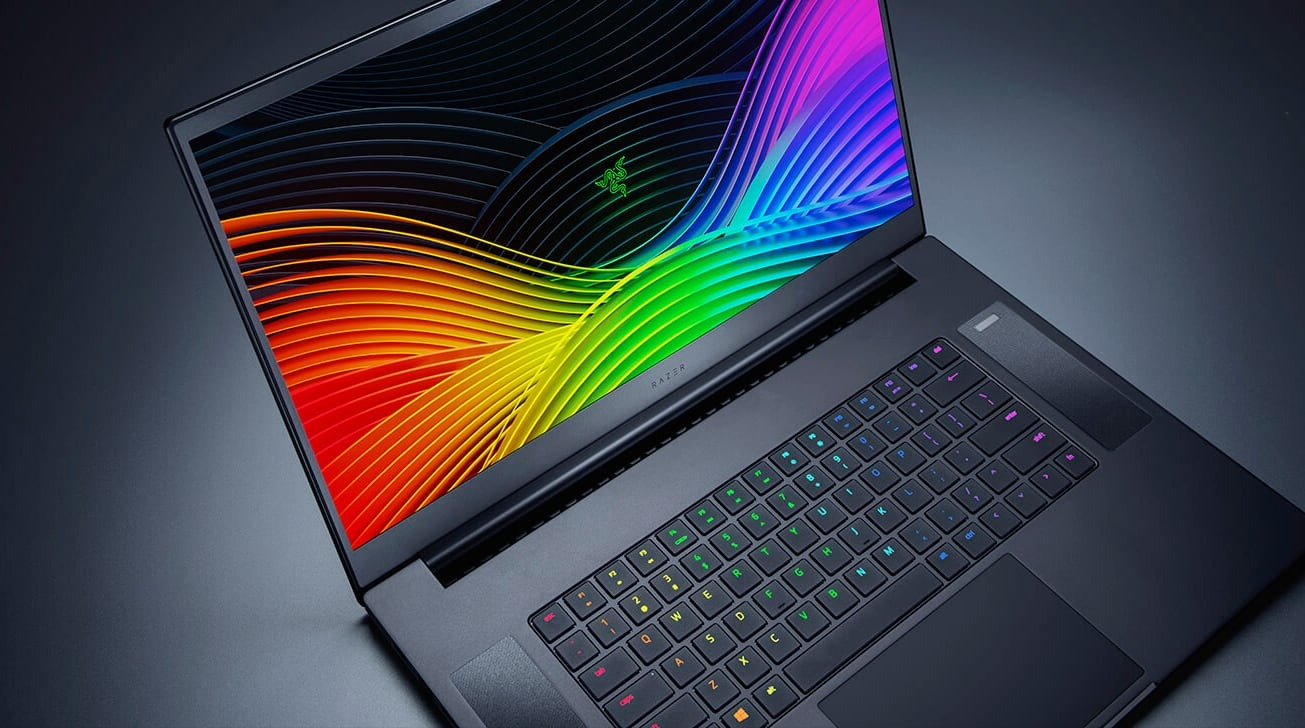 The keyboard of the Razer Blade Pro 17 has individually-lit RGB keys.