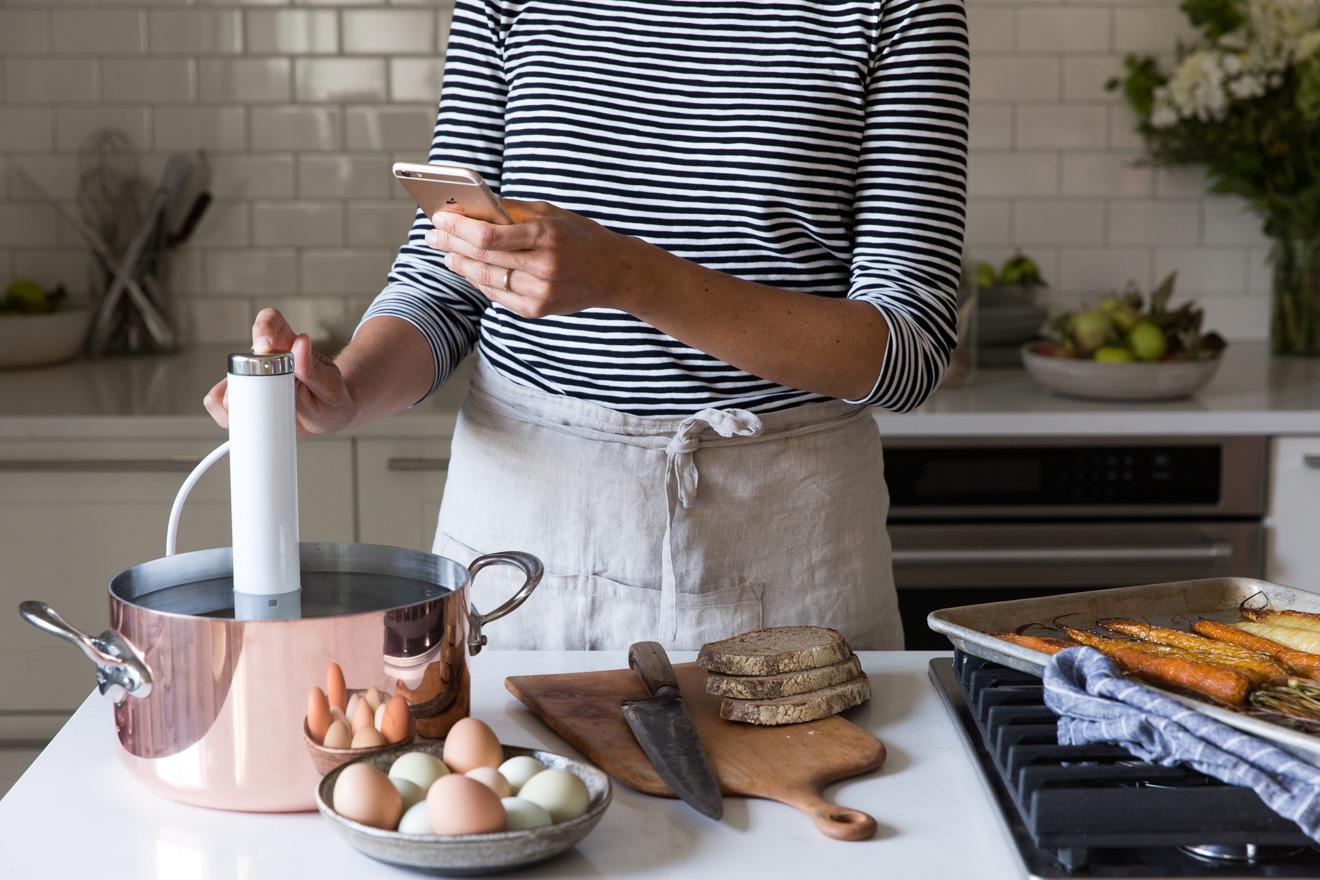 Cooking sous vide con Joule