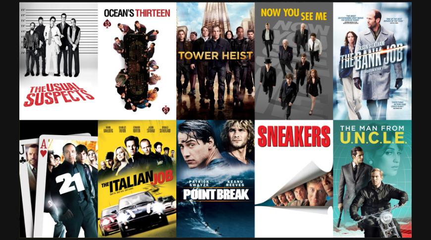Heist movies on sale