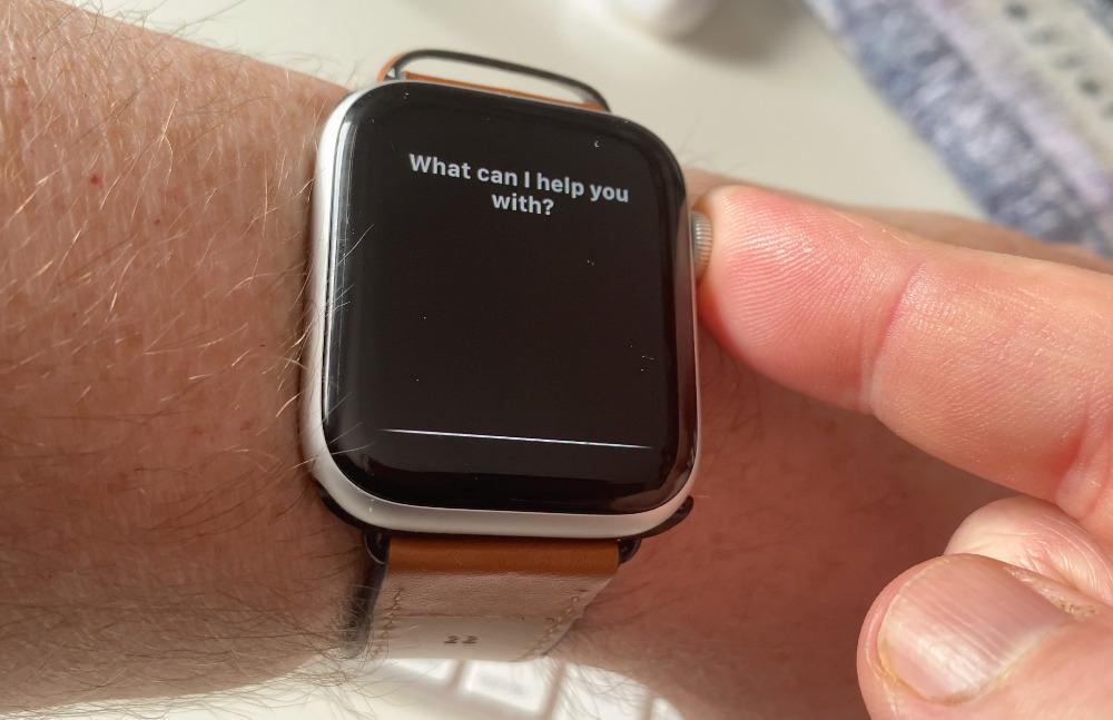 Нажмите и удерживайте колесико Digital Crown, чтобы вызвать Siri без использования волшебных слов.