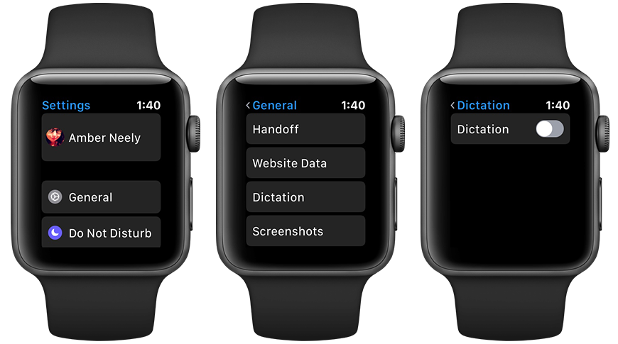 How to turn off Dictation on Apple Watch