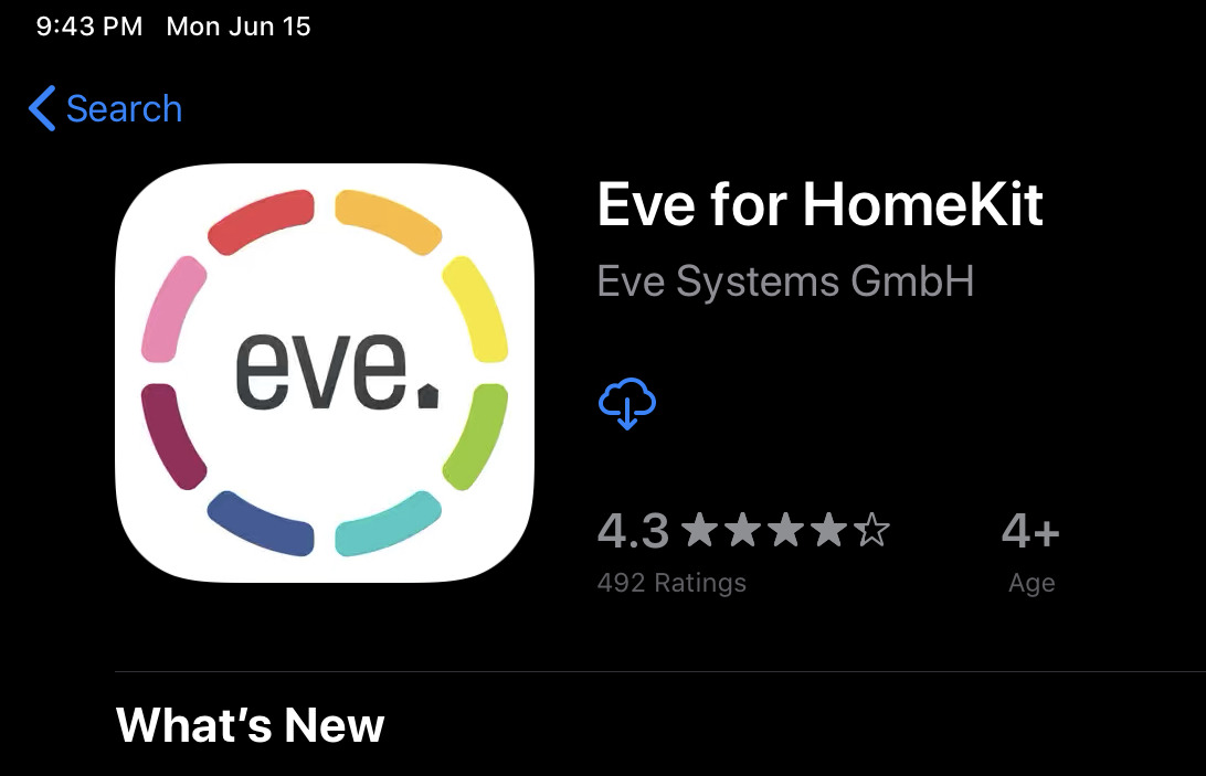 Eve app update