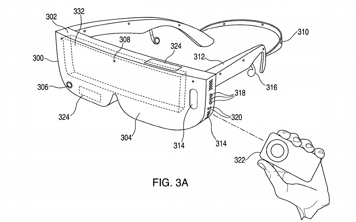 An often-used example of smart glasses that could use an inserted iPhone as a display.