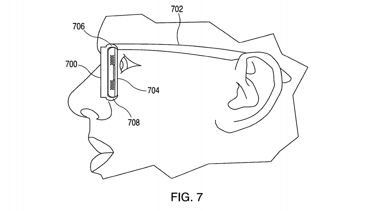 Apple proposes the lenses could be made in such a way that the display could be extremely close to the user's eye.