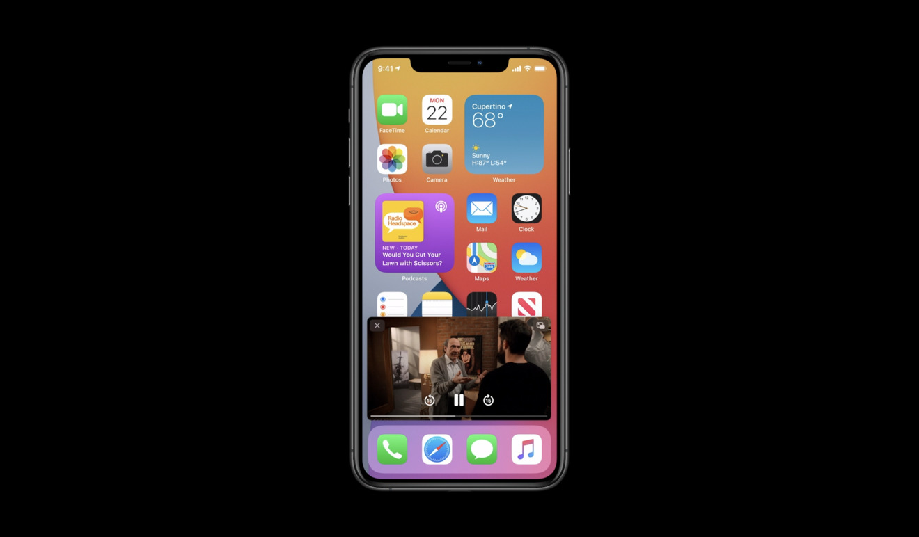 Picture in Picture in iOS 14