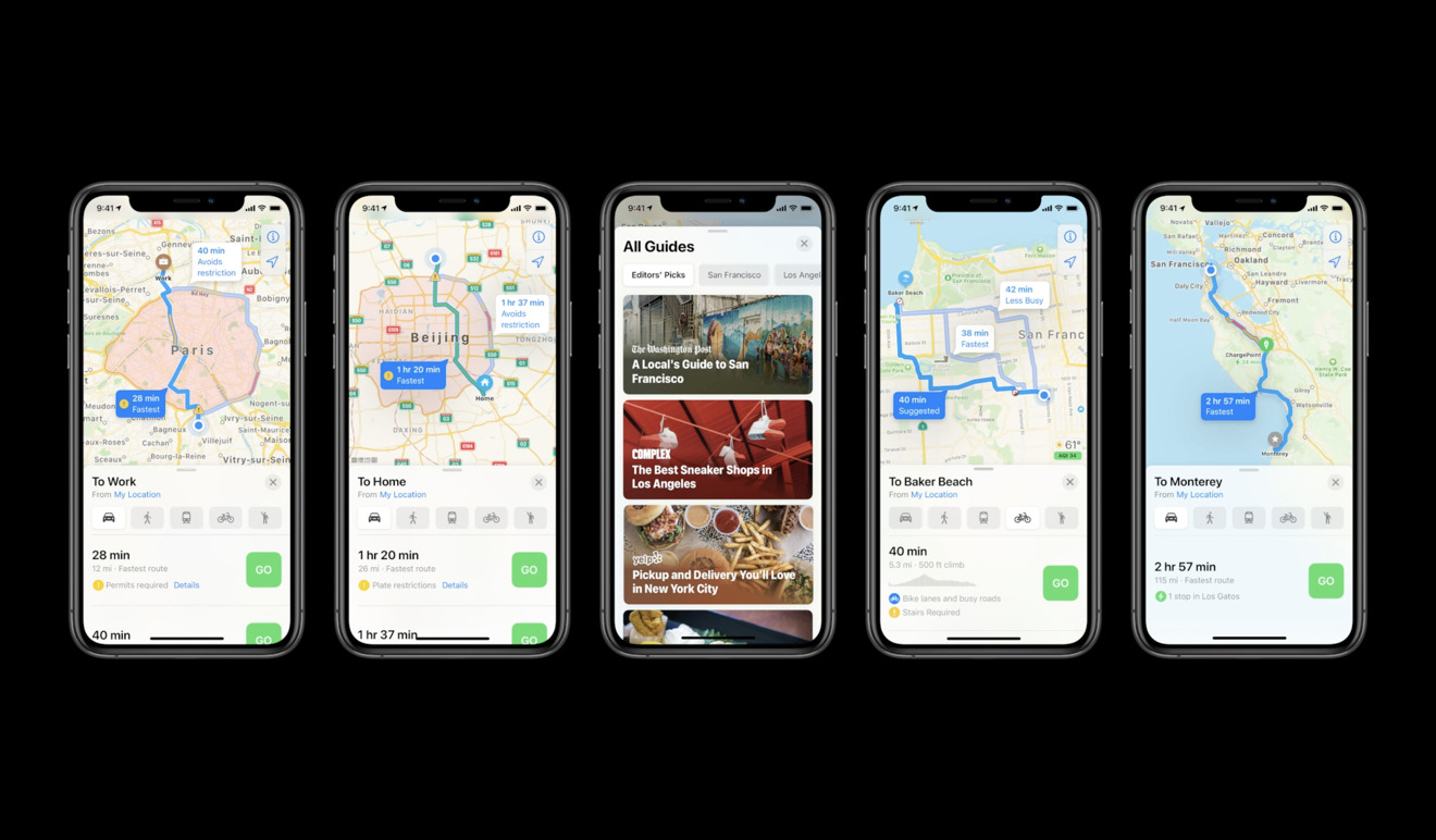 Guides and green features in Apple Maps for iOS 14
