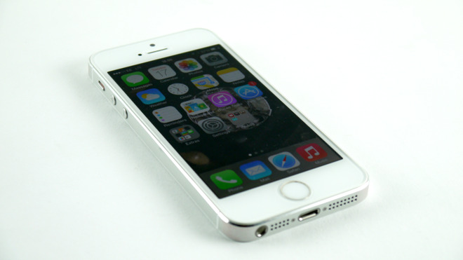 Apple's iPhone 5s, the newest iPhone listed in the Apple versus WiLAN case