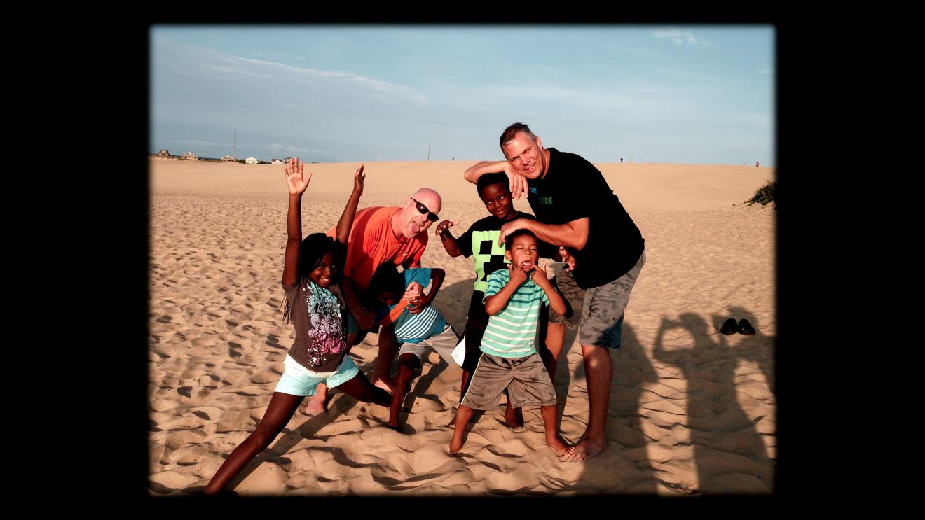 Rob Scheer, Reece Scheer and their children in