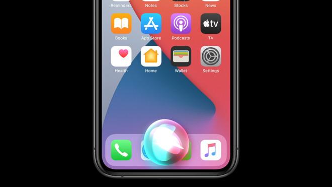 The new Siri interface in UI. Credit: Apple