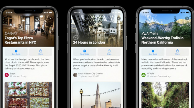 The new Guides coming to Apple Maps in iOS 14