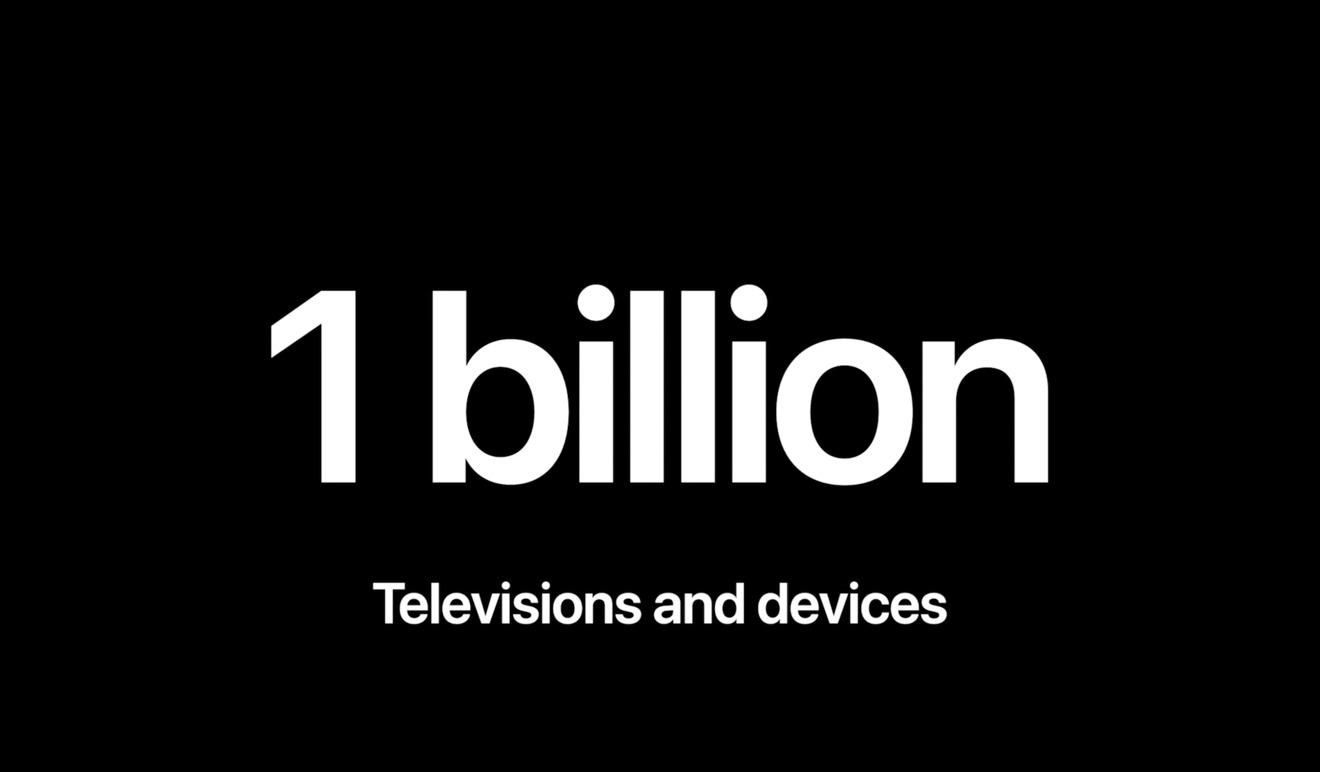 Apple TV+ is now on 1 billion screens, Apple says