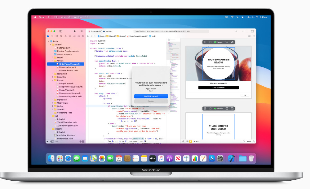 Apple's Xcode compiling apps for Apple Silicon