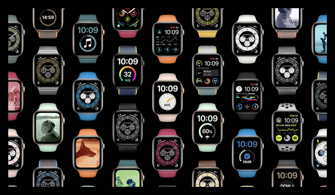 A gallery of watchOS 7 watch faces
