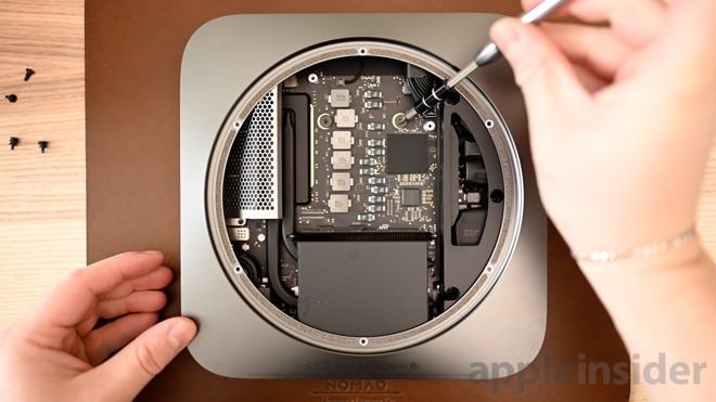 The memory can be upgraded in the Mac mini.