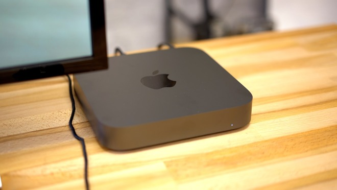 The current-generation Mac mini.