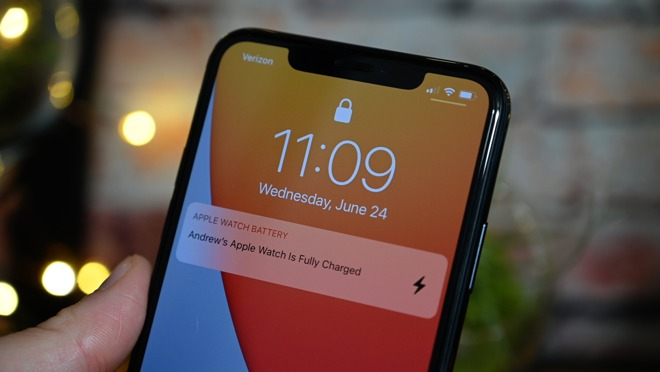 Apple Watch charging notification
