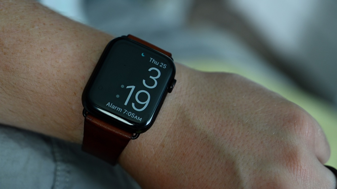 Apple Watch display when it is awoken in sleep mode