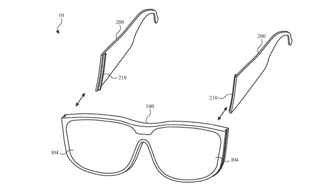 Detail from the patent regarding swapping frames and arms for different functionality