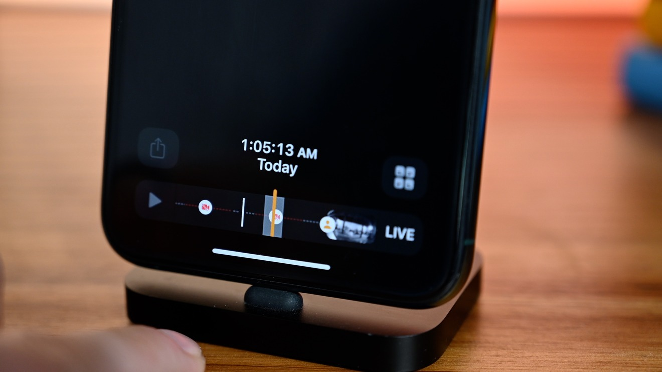 Offline time denoted in a HomeKit Secure Video camera's timeline