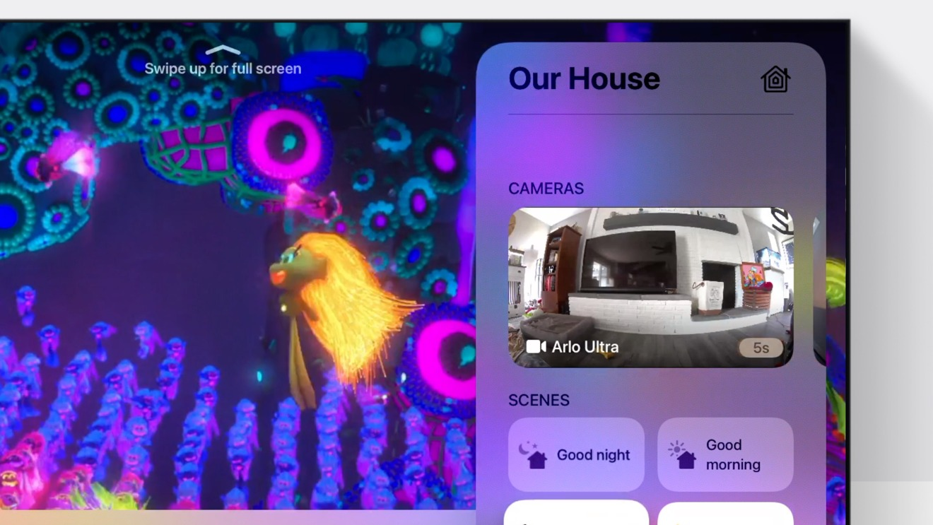 Acessing cameras and scenes on tvOS 14 Apple TV