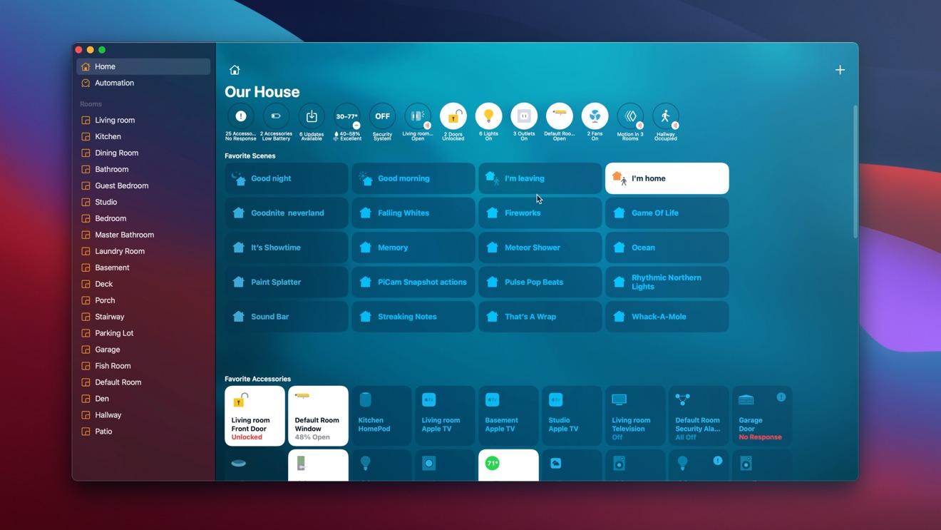 Home app on macOS Big Sur