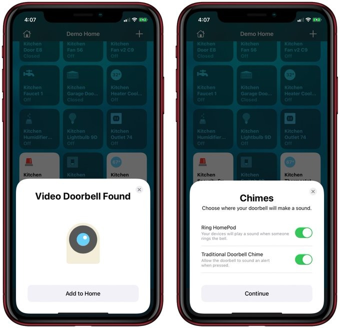 Adding a HomeKit video doorbell. Images credit: Rayan Khan