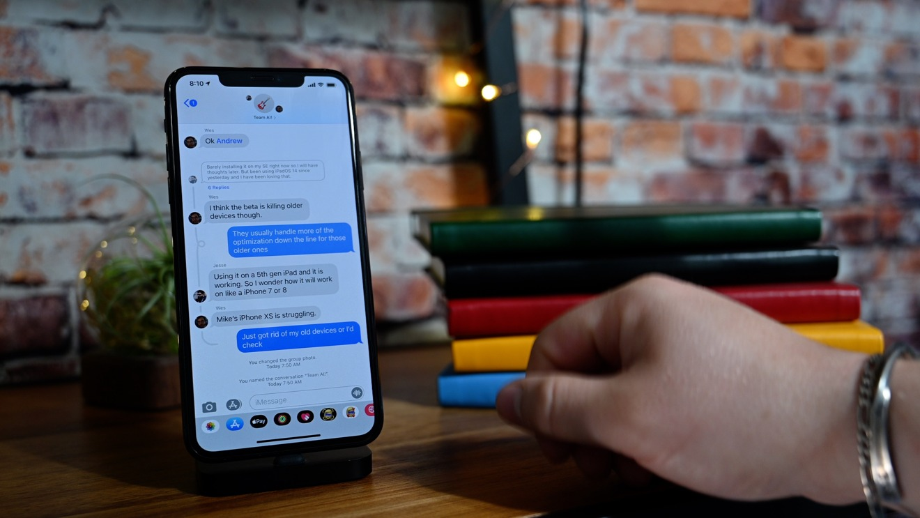 Threaded replies in iOS 14
