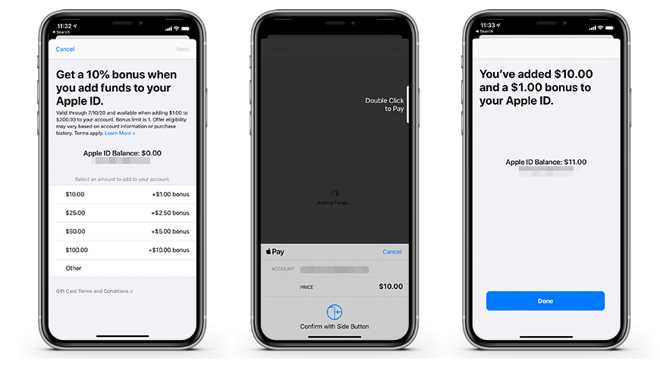 How to get 10% when you add funds to your Apple ID