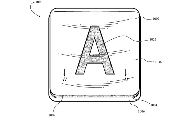 Detail from the patent application showing one possible design of key