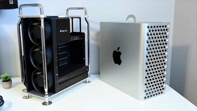 2019 Mac Pro with case removed