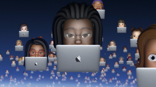 Detail from Apple's promotional video for WWDC 2020