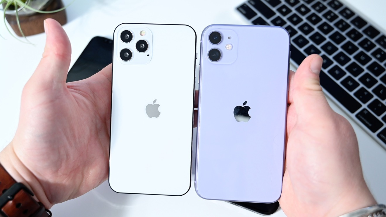 iPhone 11 (right) versus iPhone 12 Max