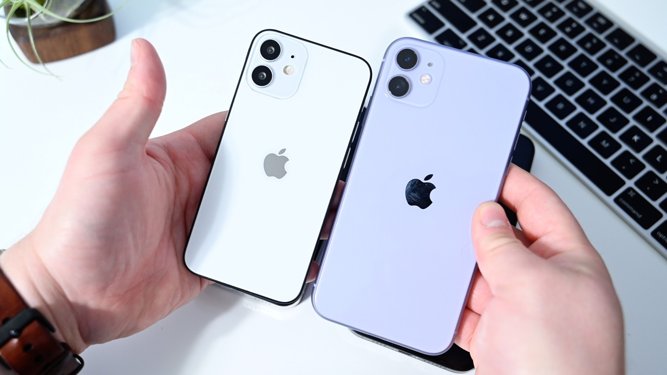 iPhone 11 (right) versus iPhone 12