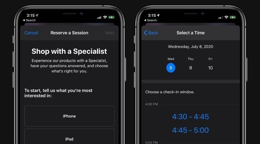 photo of Apple Stores now offer personal 'Shop with a Specialist' appointments image